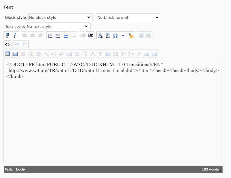 TYPO3 und RTE-Editor Fehler
