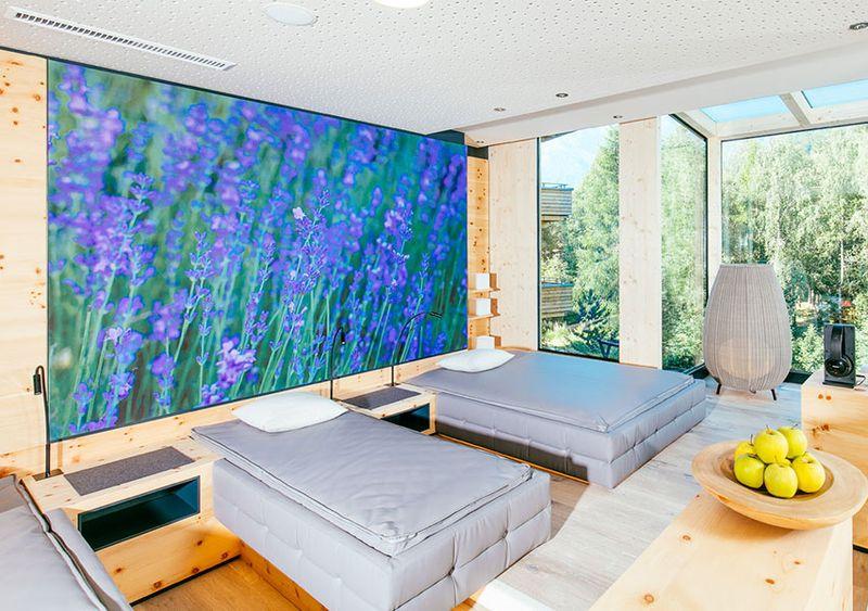 SlimFrame Rahmen im Ruheraum - Naturhotel Waldklause
